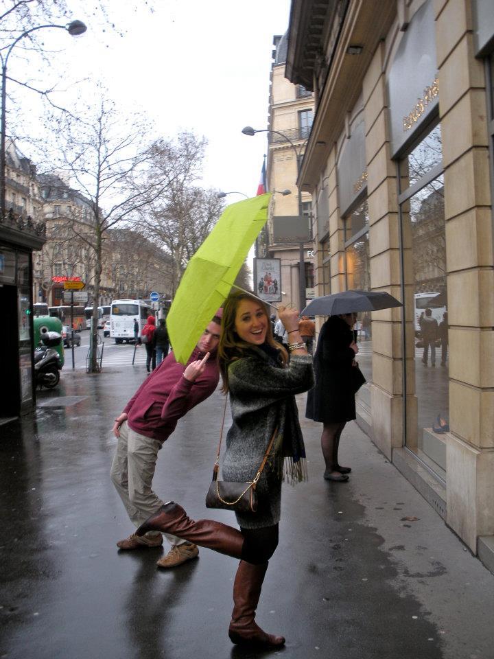 foto con un paraguas en la mano