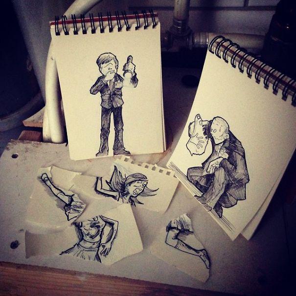 dibujos interactuan con el entorno 17