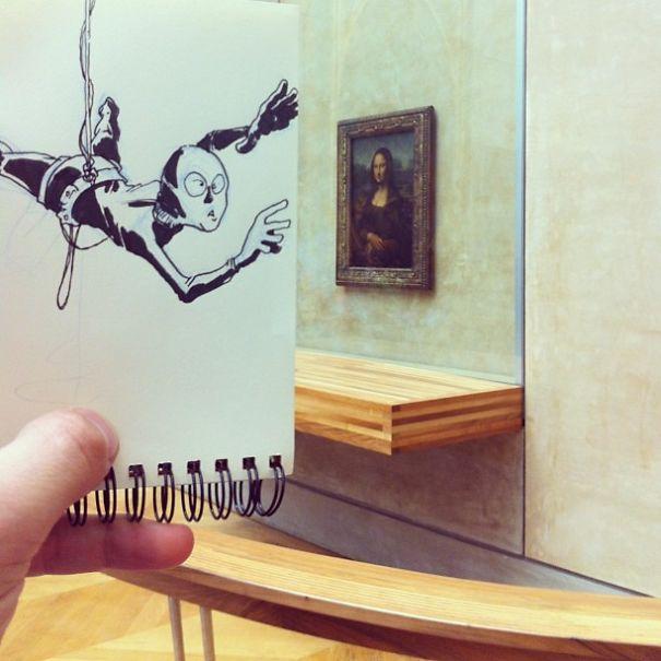 dibujos interactuan con el entorno 18