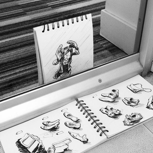 dibujos interactuan con el entorno 3