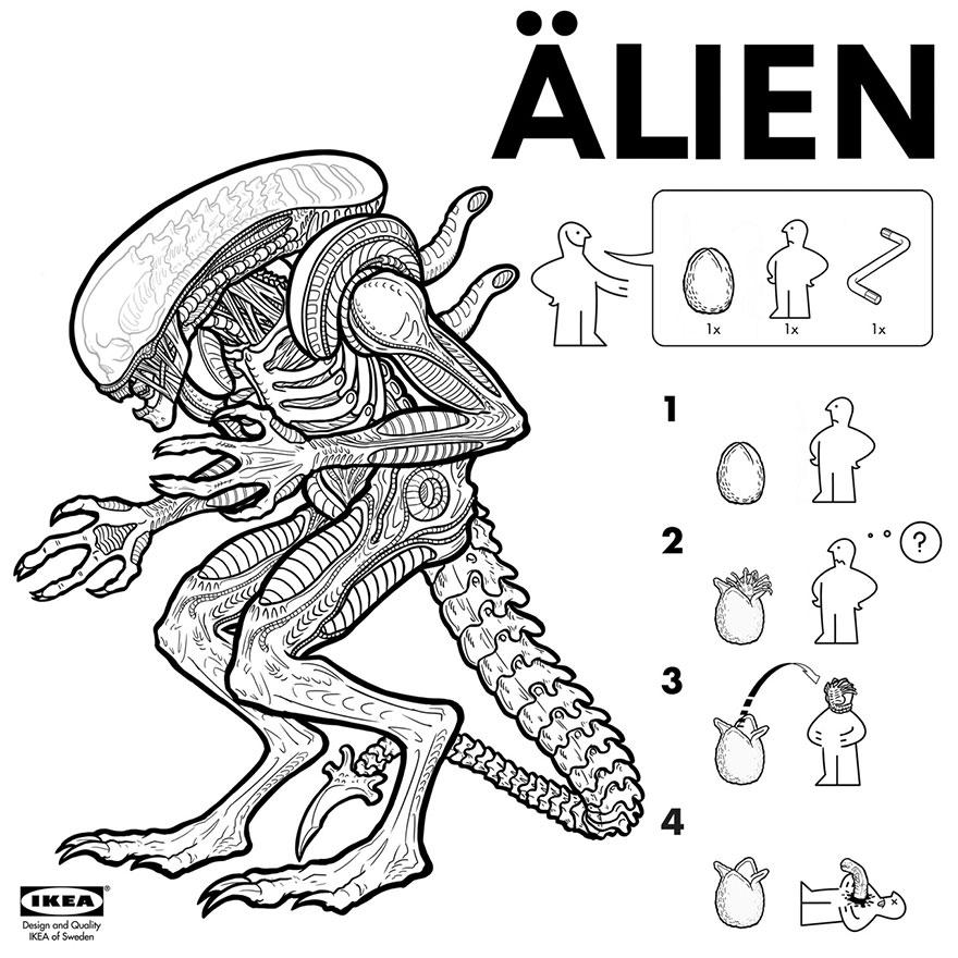 instrucciones IKEA para crear monstruos