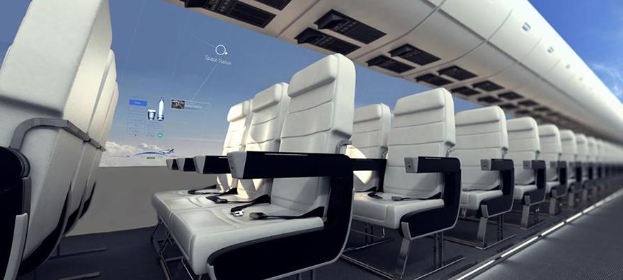 avion con vistas panoramicas del cielo 2