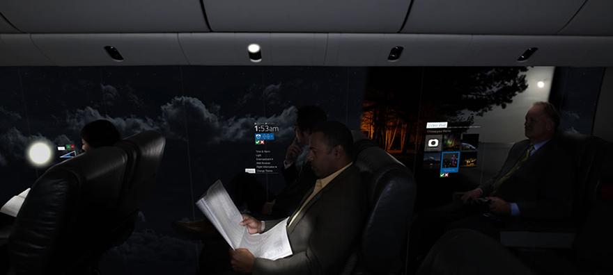 avion con vistas panoramicas del cielo 4