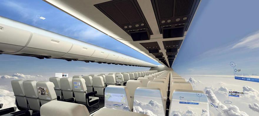 avion con vistas panoramicas del cielo