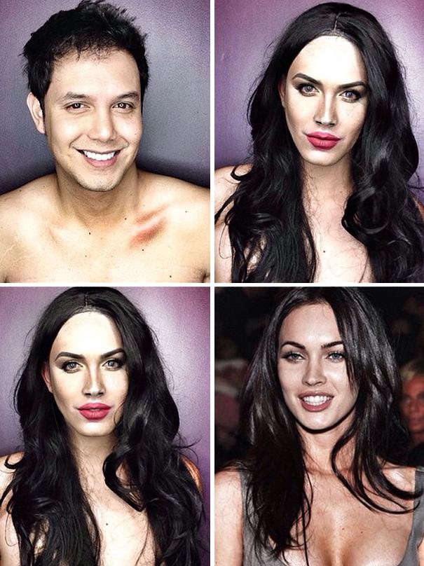 hombre maquillado para parecerse a famosas 17