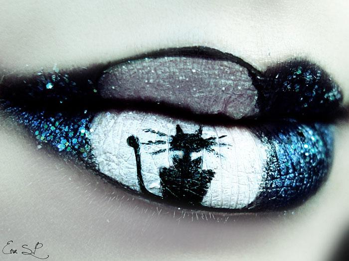 ideas maquillaje labios halloween 13