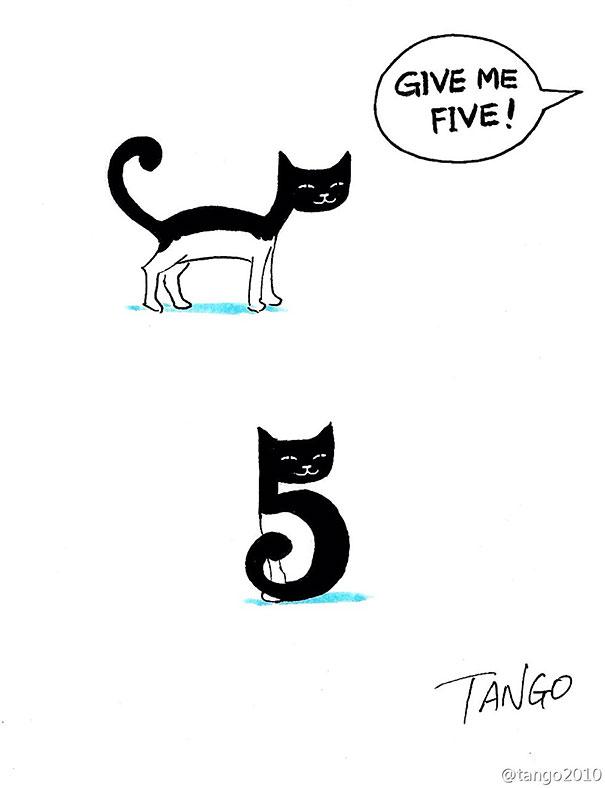 divertidas ilustraciones con gatos 4