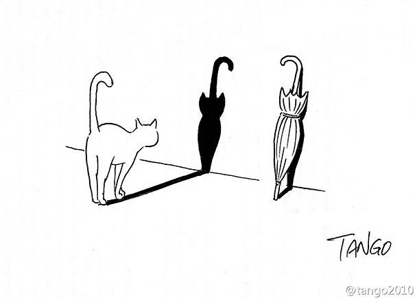 divertidas ilustraciones con gatos 5