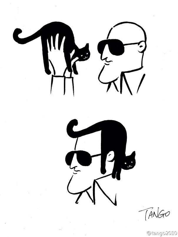 divertidas ilustraciones con gatos