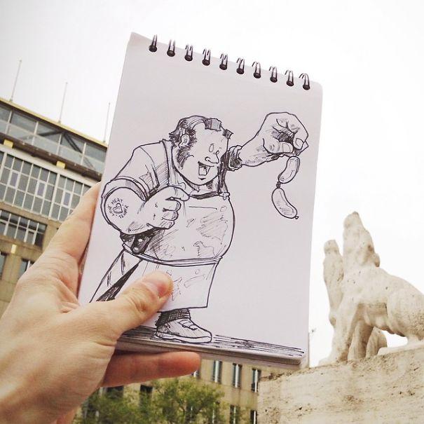 dibujos calle 23