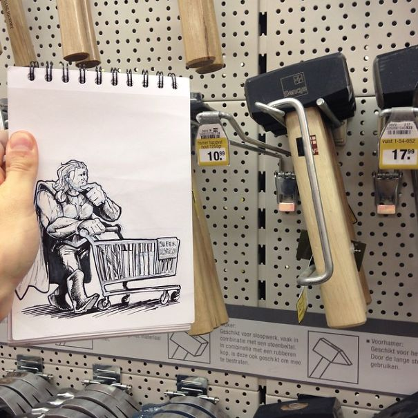 dibujos calle 6