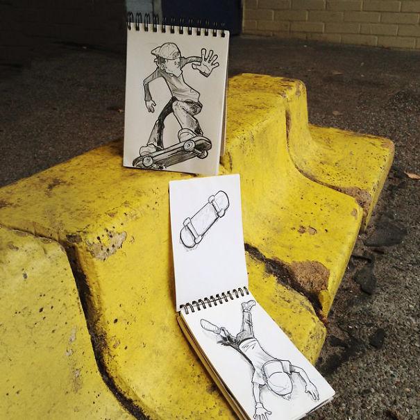 dibujos calle 8