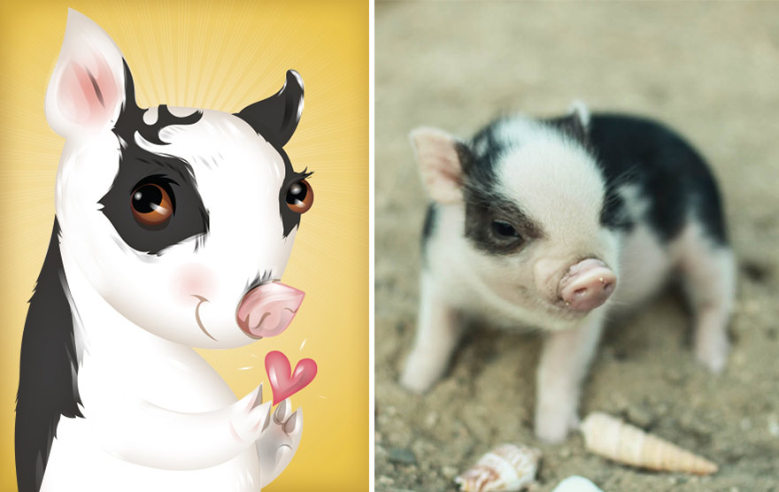 divertidas ilustraciones animales 2