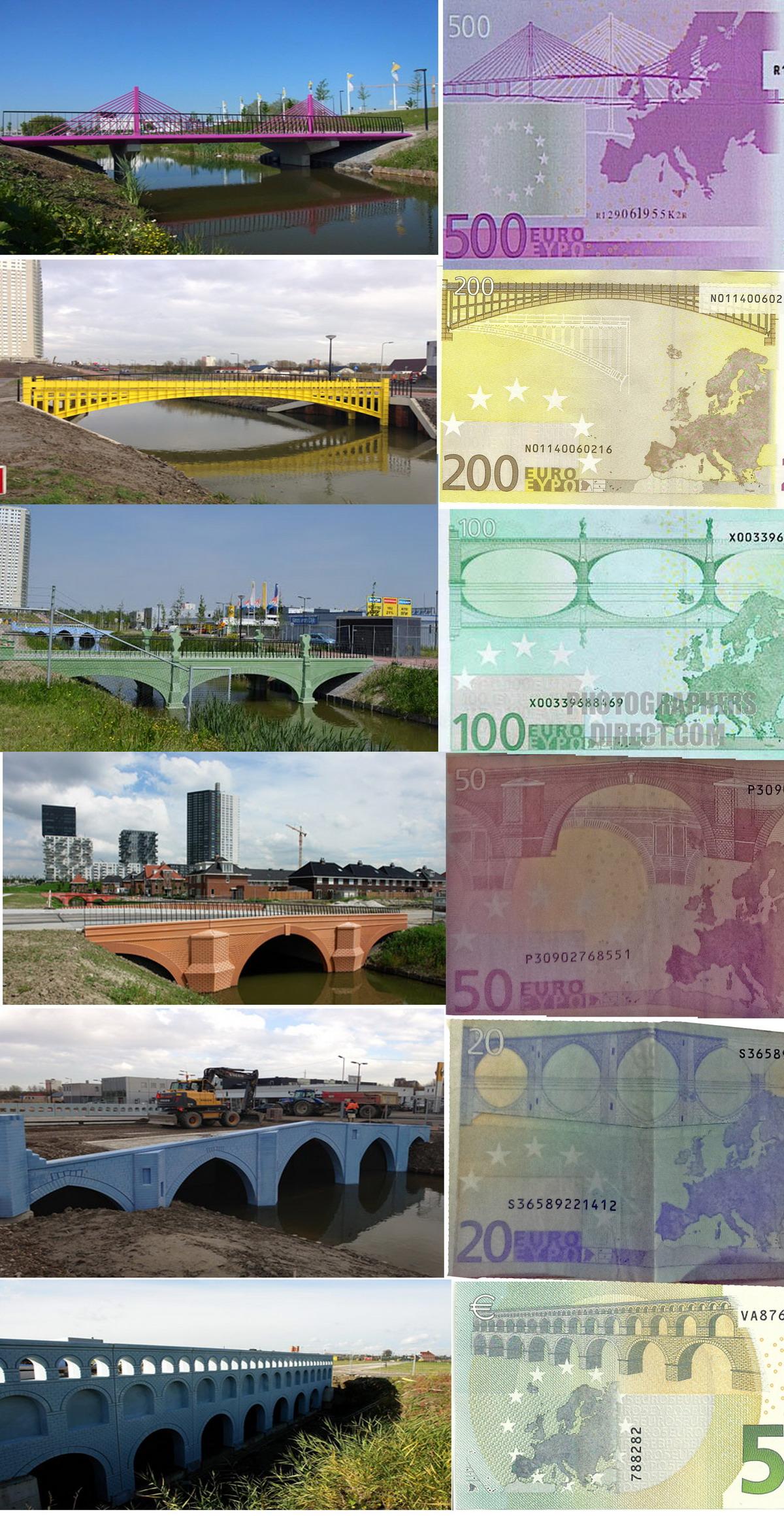 puentes de los billetes de euro