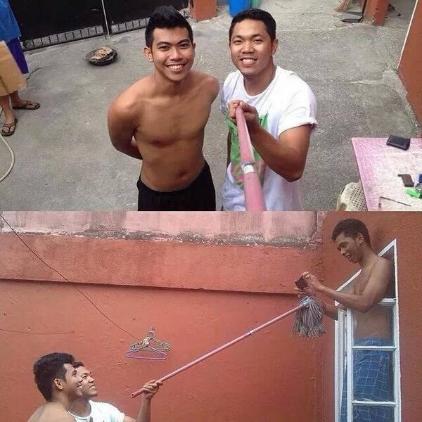 selfie cutre y falso