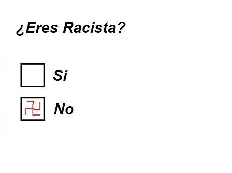 te consideras una persona racista