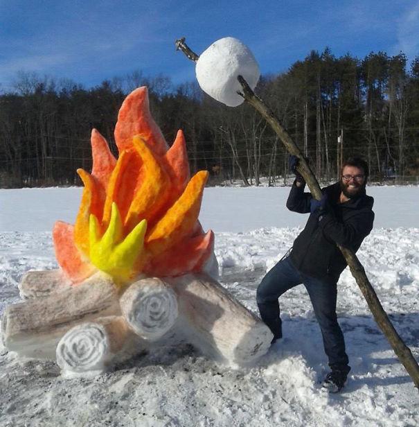 artistas de la nieve