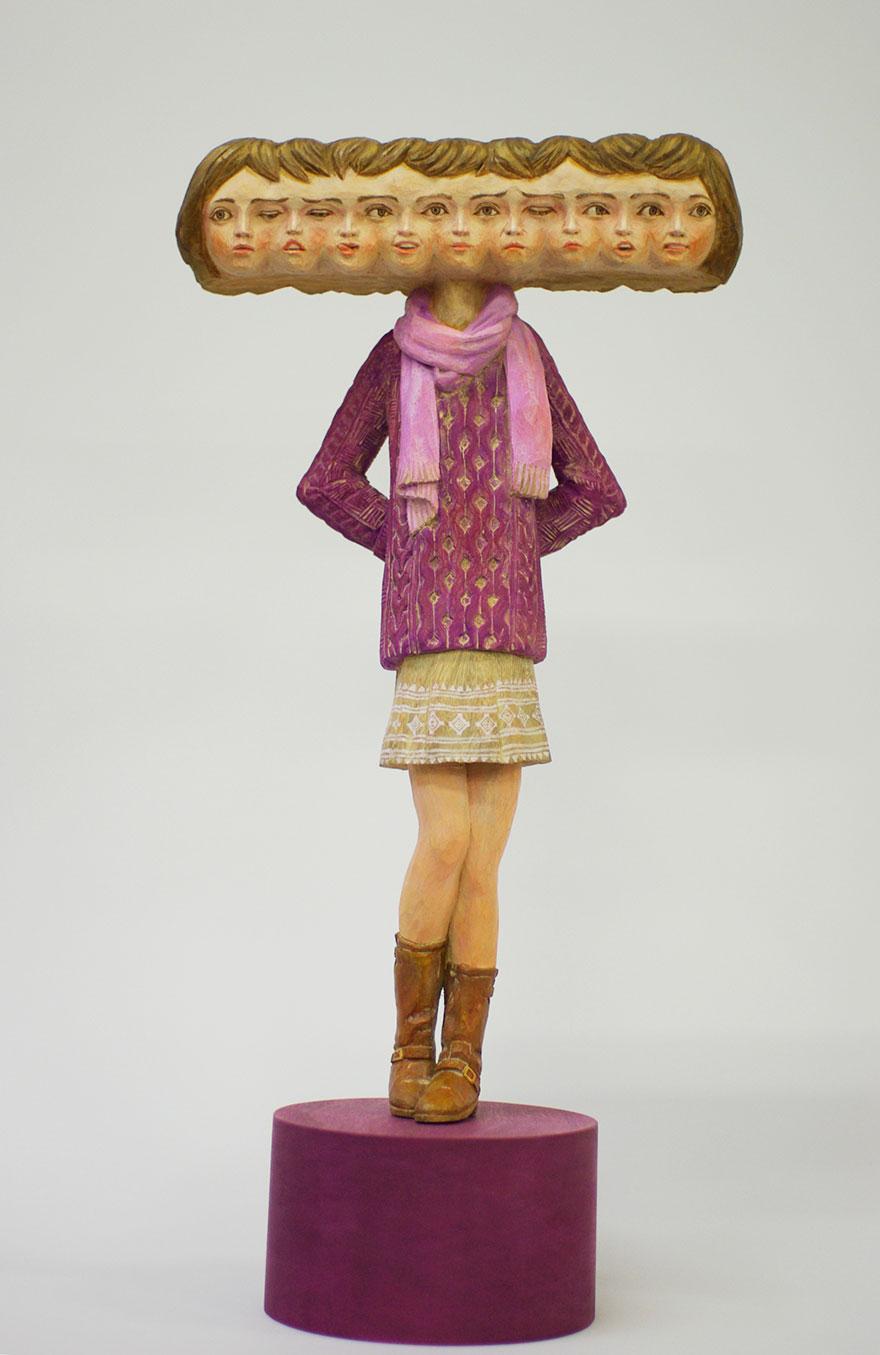 madera estatua 13