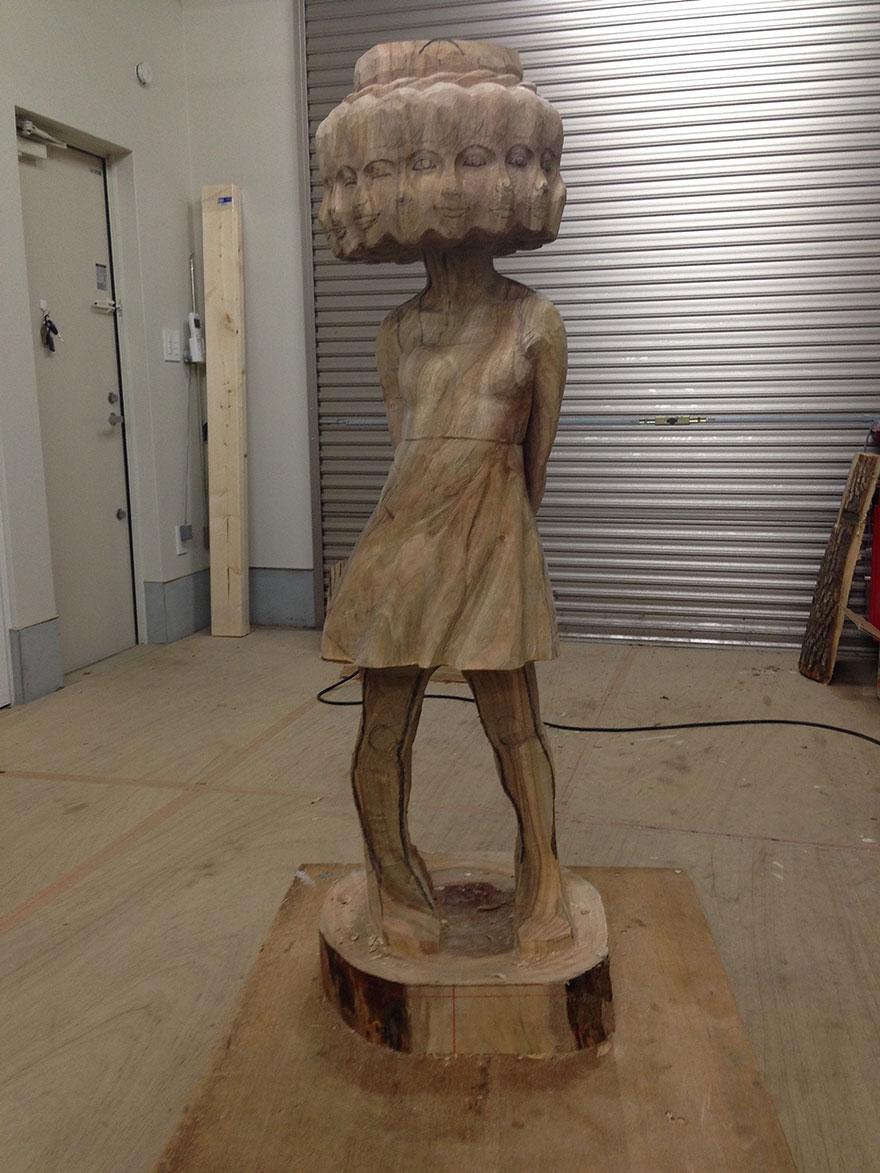 madera estatua 7
