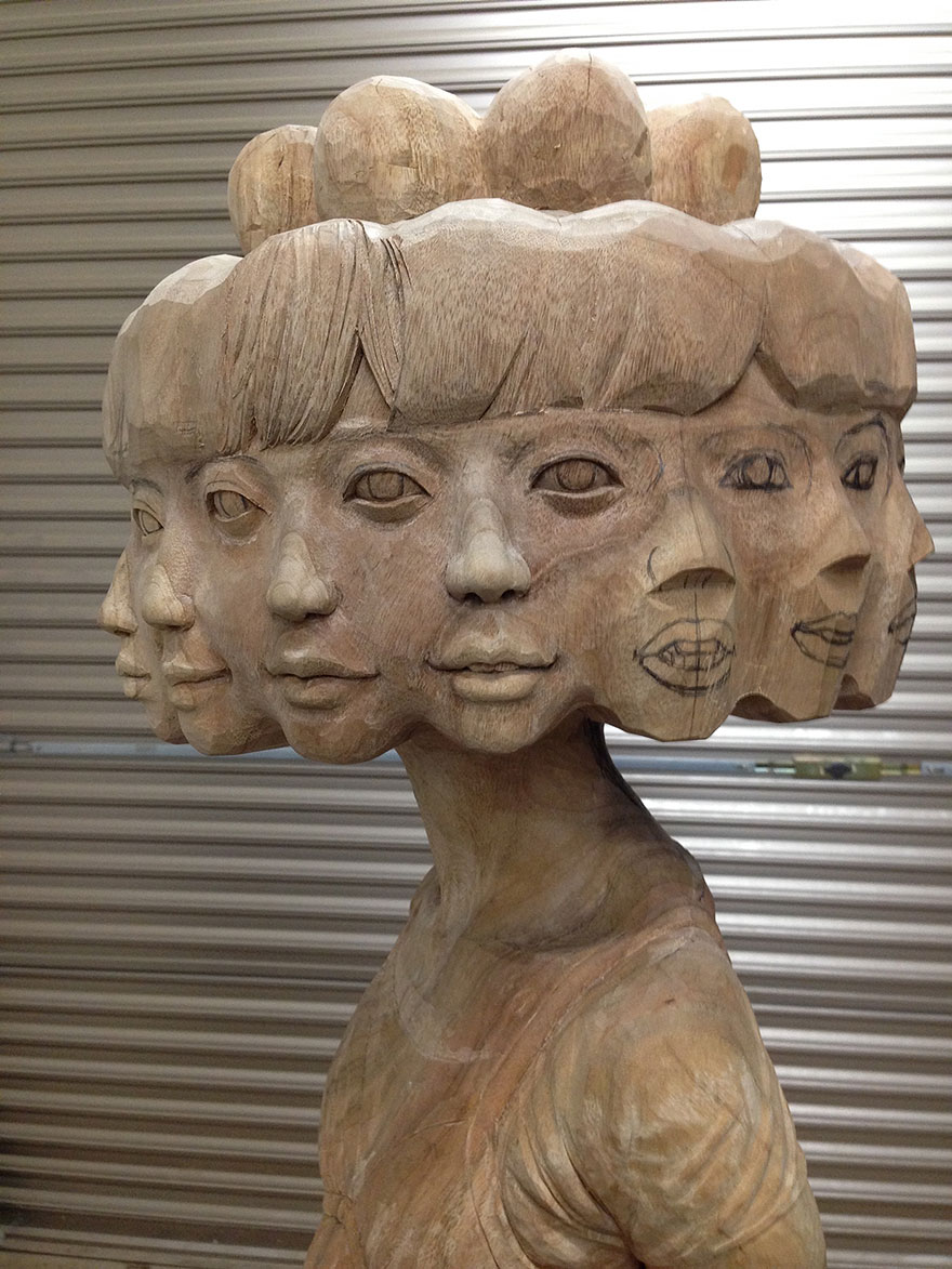 madera estatua 8