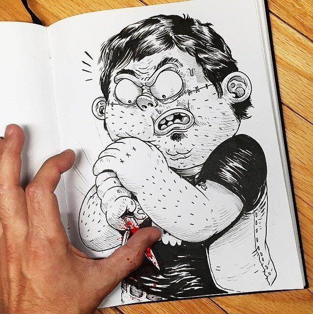 pelea con un dibujo portada