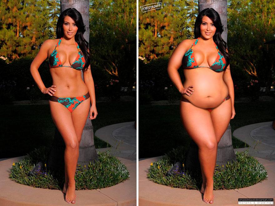 Kim Kardashian gorda