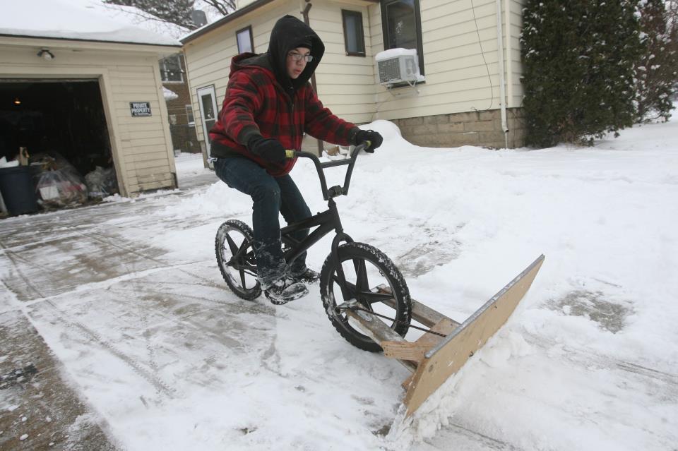 bici con quitanieves