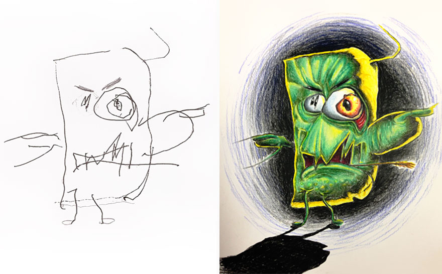 dibujos pintados por un padre 13