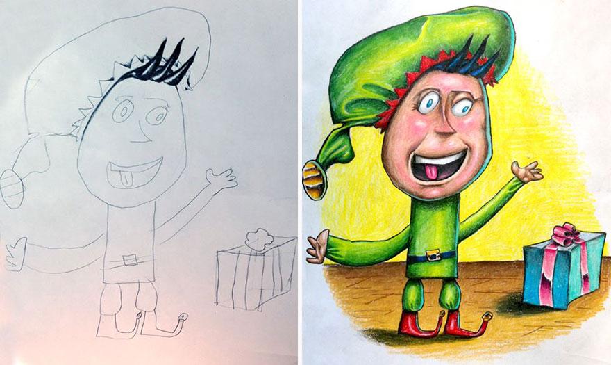 dibujos pintados por un padre 7