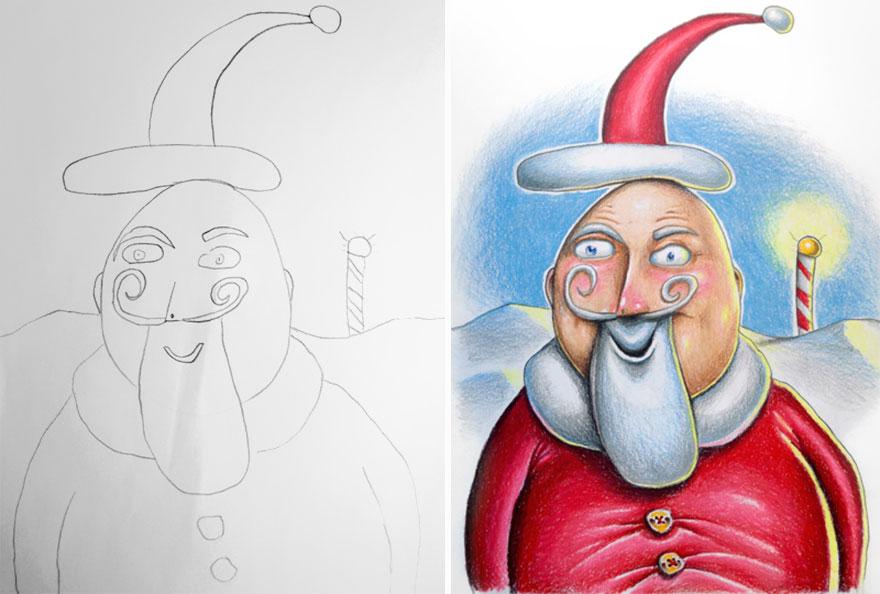 dibujos pintados por un padre