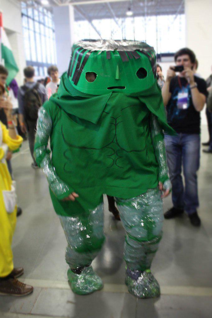 disfraz de hulk bien pensado