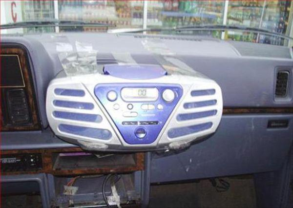 equipo de audio para el coche extraible