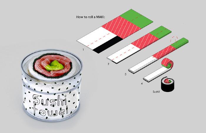 trapos de cocina sushi 2