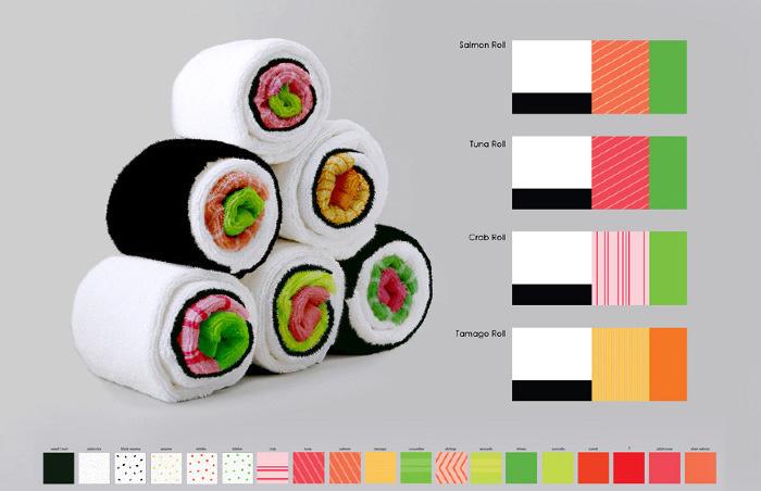 trapos de cocina sushi