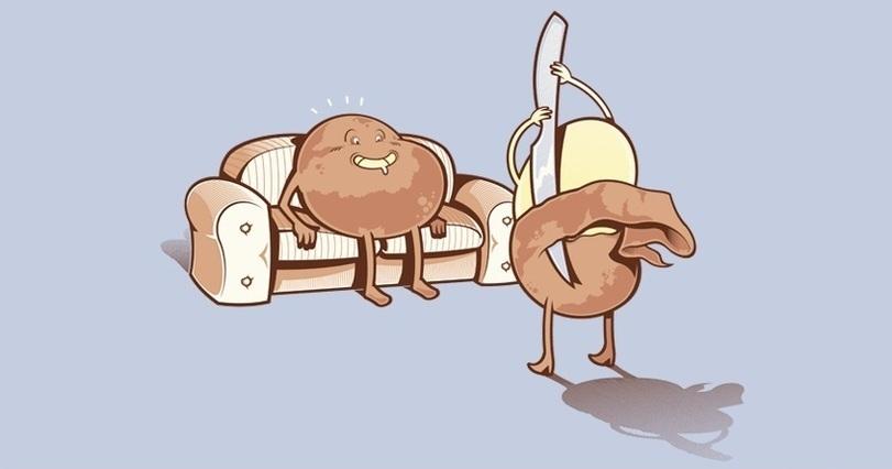 una patata de striptease