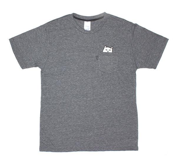 Camisetas con bolsillo y gato incorporado 7fcbb2927d2e6