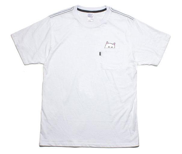 70f38c5fec230 Camisetas con bolsillo y gato incorporado