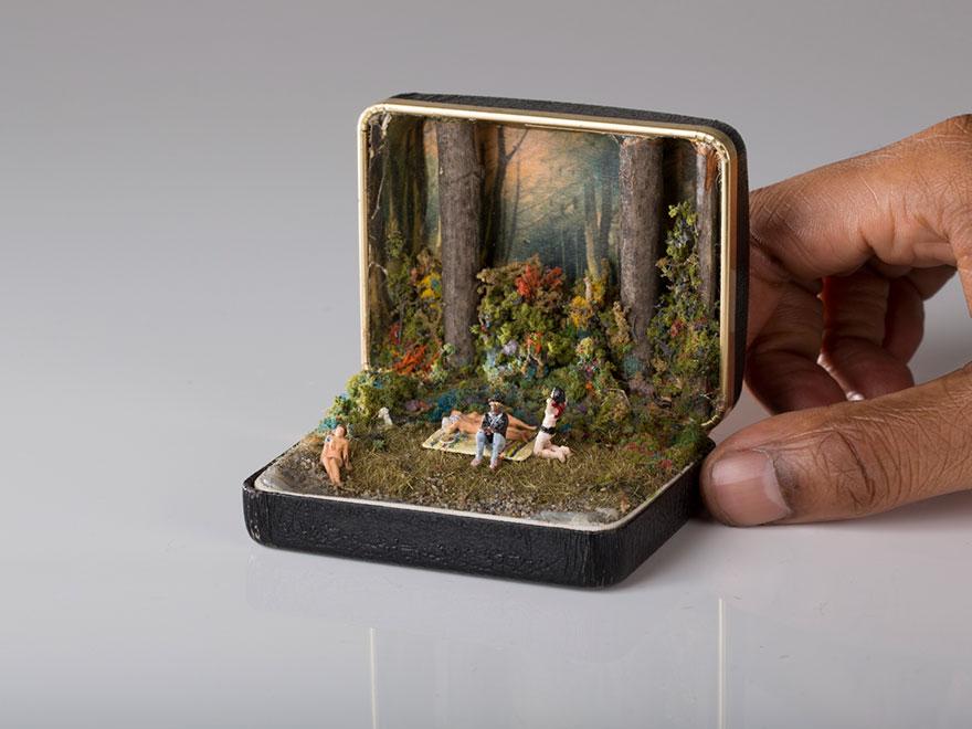 dioramas cajas anillos