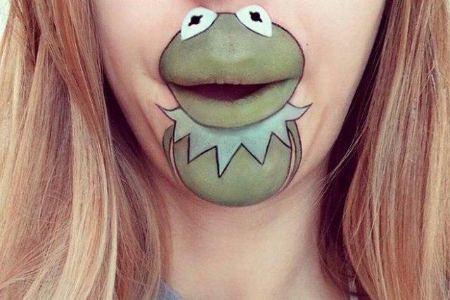 maquillaje de la Rana Gustavo