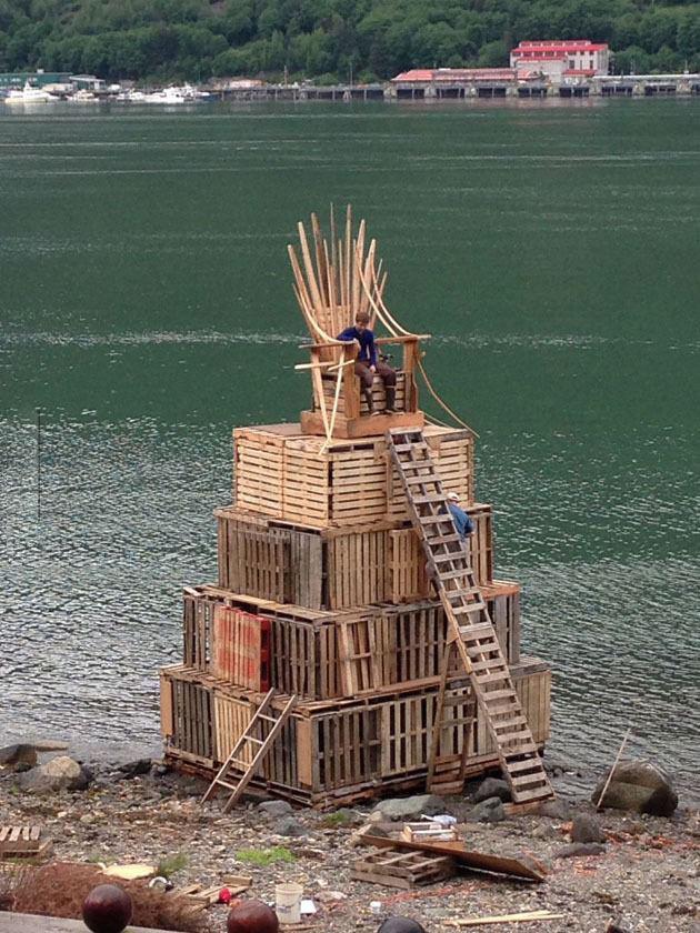 el trono de hierro en version madera