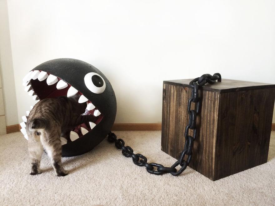 Cama para gatos inspirada en Chompy