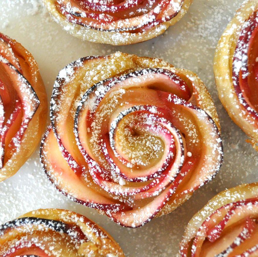 postre de manzana rosa 2