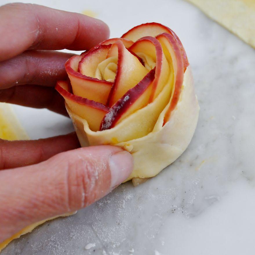 postre de manzana rosa 7
