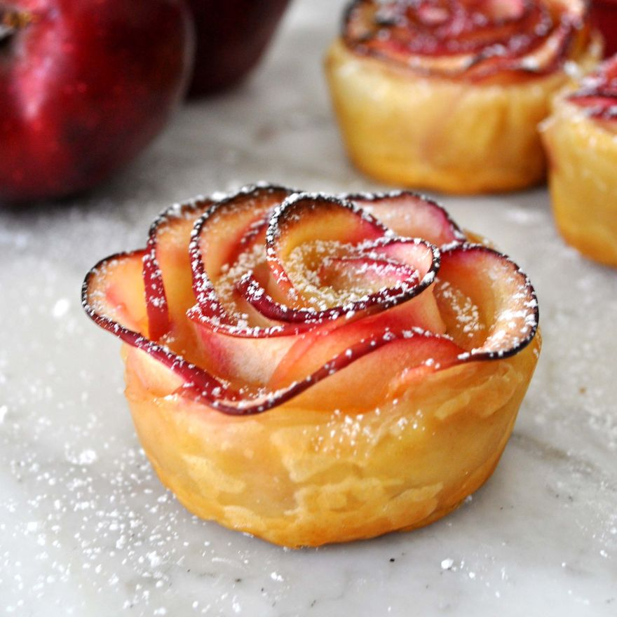 postre de manzana rosa 8