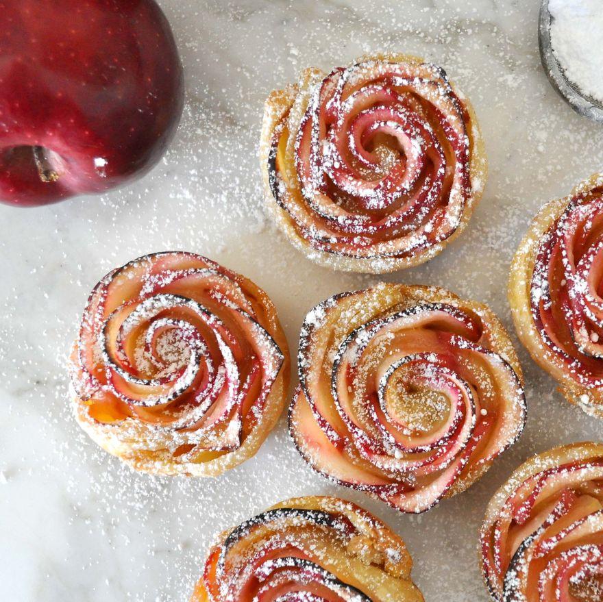 postre de manzana rosa 9