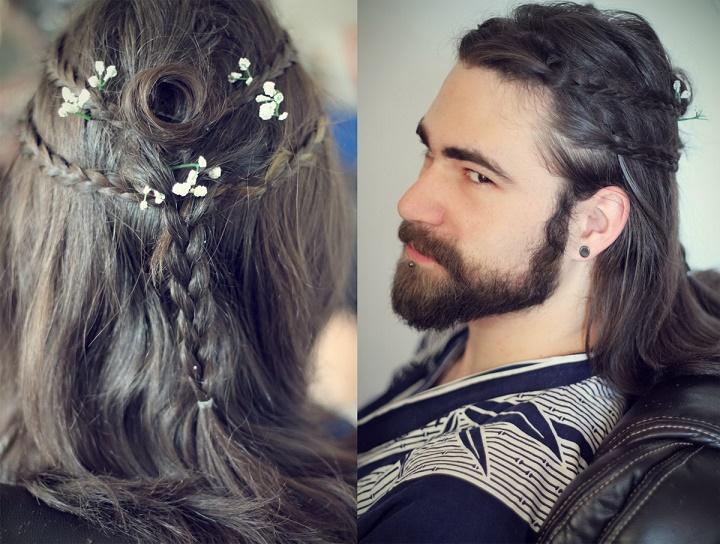 chico con peinado de chica