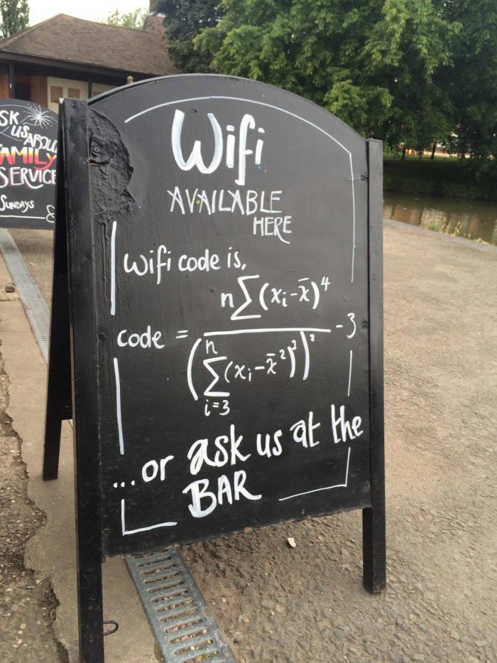 codigo wifi para matematicos
