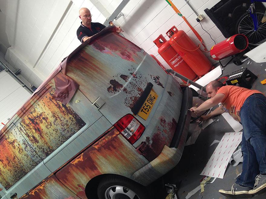 furgoneta camuflada contra los ladrones 10
