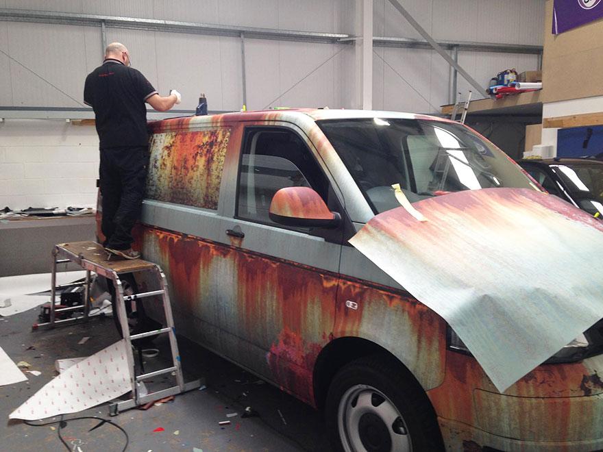 furgoneta camuflada contra los ladrones 7
