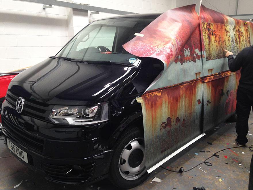 furgoneta camuflada contra los ladrones